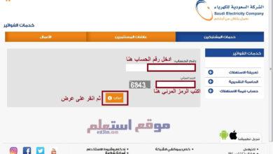 الاستعلام عن فاتورة الكهرباء السعودية